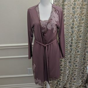 Soma Intimates Night Gown Robe Set Lacy Sexy NWOT